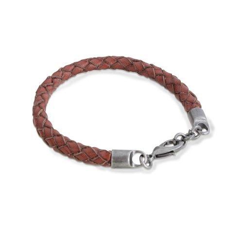 Brown Single Strand Leather Bracelet - O'Kellys Jewellers Bray