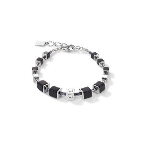 Coeur de Lion Geocube Black and Silver Bracelet - O'Kellys Jewellers Bray