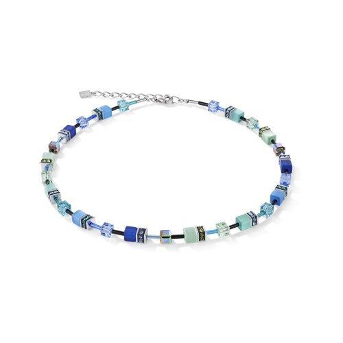 Coeur de Lion Geocube Blue and Green Necklet - O'Kellys Jewellers Bray