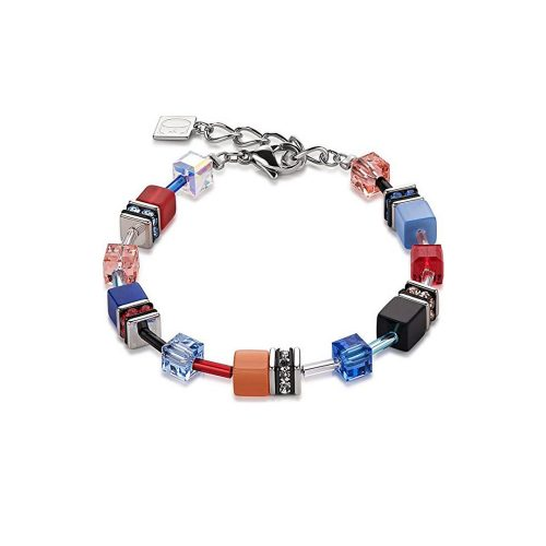 Coeur de Lion Geocube Blue and Red Bracelet - O'Kellys Jewellers Bray