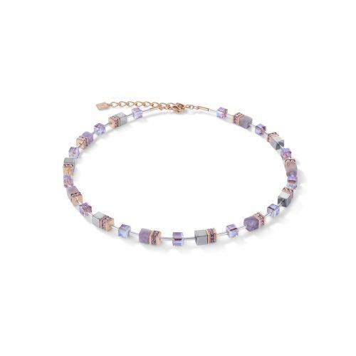 Coeur de Lion Geocube Light Amethyst Necklet - O'Kellys Jewellers Bray