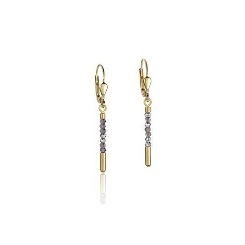 Coeur De Lion Gold Plate Drop Earrings - O'Kellys Jewellers Bray