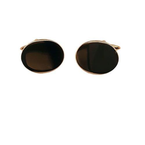 Gold Plated Plain Cufflinks - O'Kellys Jewellers Bray