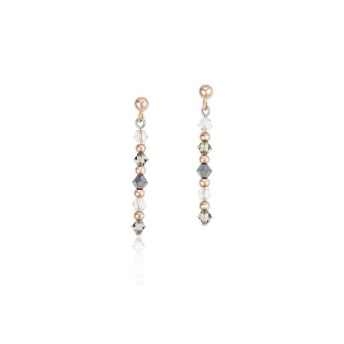 Coeur De Lion Earrings With Swarovski Crystals In Rose Gold And Grey - O'Kellys Jewellers Bray