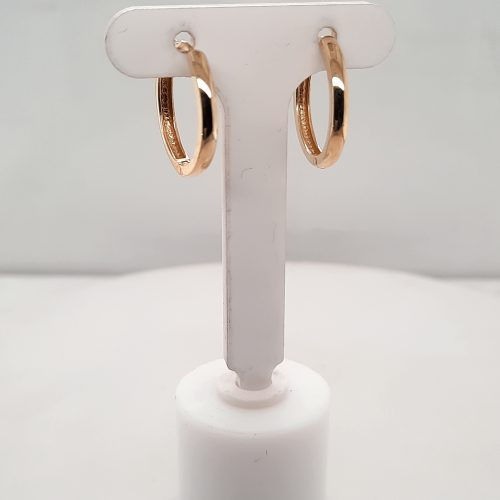 9ct Yellow Gold 17mm Hoops - O'Kellys Jewellers Bray