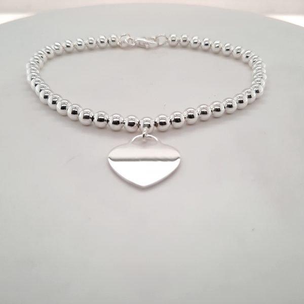 Silver Heart Engravable Bracelet - O'Kellys Jewellers Bray
