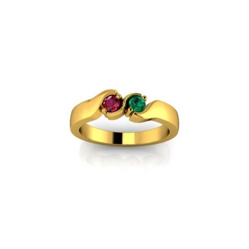 2 Birthstone 9ct Gold Ring Made To Order - O'Kellys Jewellers Bray