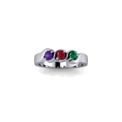 3 Birthstone Silver Ring Made To Order - O'Kellys Jewellers Bray