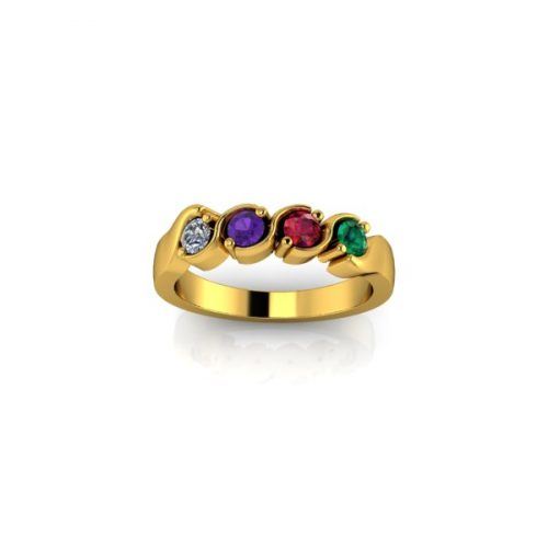 4 Birthstone 9ct Gold Ring - O'Kellys Jewellers Bray