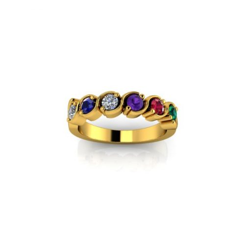 6 Birthstone 9ct Gold Ring - O'Kellys Jewellers Bray