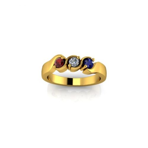 3 Birthstone 9ct Gold Ring - O'Kellys Jewellers Bray