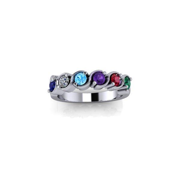 6 Birthstone Silver Ring - O'Kellys Jewellers Bray
